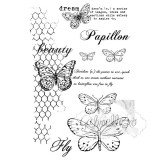 49 and Market Clear Stamps 10x15 cm- Gabi Butterflies Are Free. Läbipaistev tempel