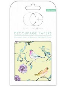 Craft Consortium Bird Treetop Large dekupaaž (salvrätitehnika) paber