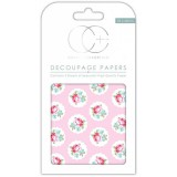 Craft Consortium Rose Bud dekupaaž (salvrätitehnika) paber