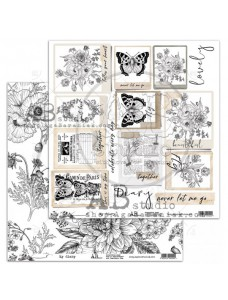 12x12 (30x30 cm) Elements-My diary disainpaberileht