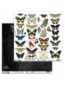 12x12 (30x30 cm) Butterfly Effect disainpaberileht