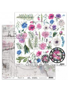 12x12 (30x30 cm) Enchanted flowers - page 7-8 disainpaberileht