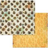 12x12 Dreams Of Autumn-Pinecones disainpaber