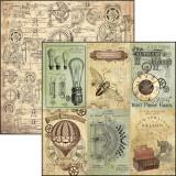 12x12 (30x30 sm) Voyages Extraordinaires - VERNE CARDS disainpaberileht