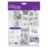 DoCrafts A5 Clear Stamp Set (16pcs) - Butterflies. Läbipaistvate templite komplekt