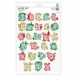 Xcut A4 Die Set (26pcs) - Festive Alphabet lõiketera