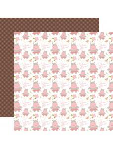 12x12 Sweet Baby Girl - Welcome Little One disainpaberileht