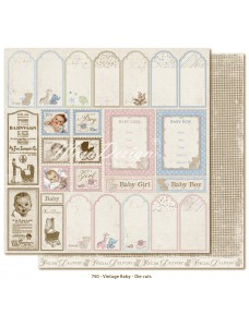 12x12 Vintage Baby - Die Cuts. Sildid