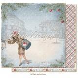 12x12 Christmas Season - Mail the postcards disainpaberileht