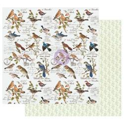 12x12 (30x30 cm) NATURE LOVER - WHERE THE BIRDS MEET disainpaber fooliumiga