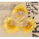 Lady Bird Fabric Flower Pack - Yellow kangast lilled