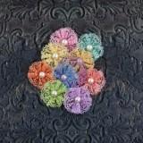 Adelynn-Ablaze värvilisest pitsist lilled
