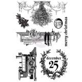 Cling Stamp - A Victorian Christmas. Kummitemplite komplekt