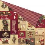 12x12 A Victorian Christmas-Un Calendrier de L Avent. Disainipaber fooliumiga