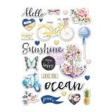 Puffy Stickers - St. Tropez. Pehmed kleepsud
