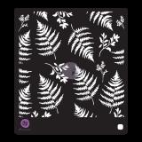 Midnight Garden Cling Stamps and Stencil. Kummitemplite komplekt ja trafarett