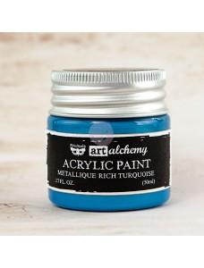 Art Alchemy-Acrylic Paint-Metallique Rich Turquoise. Metallikvärv, türkiissinine