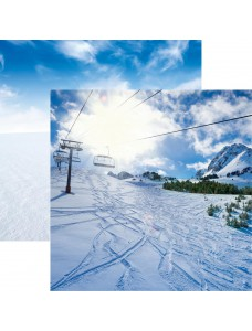 12x12 Snow Day-Ski Lift disainpaber