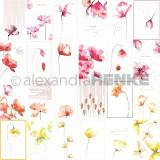 12x12 card sheet flowers international disainpaber