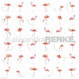 12x12 Flamingo circle disainpaber