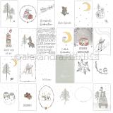 12x12 Card sheet winter forest fun disainpaber