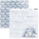 12x12 (30x30 cm) Christmas Time Glittery Night disainpaberileht