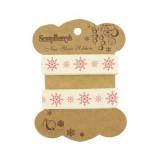 Printed decorative ribbon Snowflakes. Pael