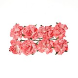 Lilled mulberry paberist. 2,5 cm. 8 tk. Curly Rose - Pink
