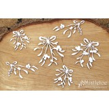 Scrapiniec chipboard Mistletoe - bouquets