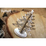 Scrapiniec chipboard Tatting christmas - 3D christmas tree