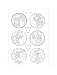 Stamperia Soft Mould A4 size Fairies. Pehme PVC vorm modelleerimiseks