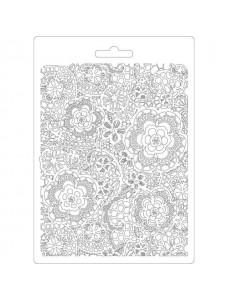 Stamperia Soft Mould A5 size Flowered texture. Pehme PVC vorm tausta modelleerimiseks