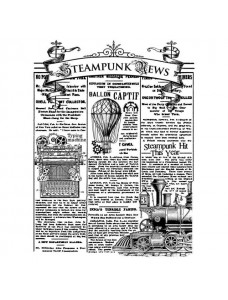 Stamperia Cling Stamp by ANTONIS TZANIDAKIS 15x20 cm - Steampunk news. Kummitemplite komplekt
