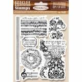 Stamperia Cling Stamp 14x18 cm - Music beginning. Kummitemplite komplekt