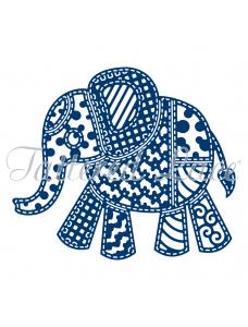 Tattered Lace lõiketera - Patchwork Elephant