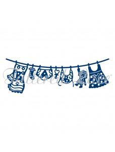 Tattered Lace lõiketera - Baby Girl Washing Line