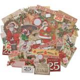 Tim Holtz Idea-Ology Ephemera Pack. Christmas. Väljalõiked, 51 tk