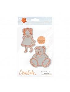 Marmalades World Stamp Set - Minnie and Marmalade. Kummitemplite komplekt