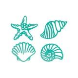 COUTURE CREATIONS Intricutz Dies Sea Breeze - SEASHELLS. Lõiketera